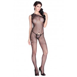 Asymmetrical Floral Sexy Sheer Body Stockings