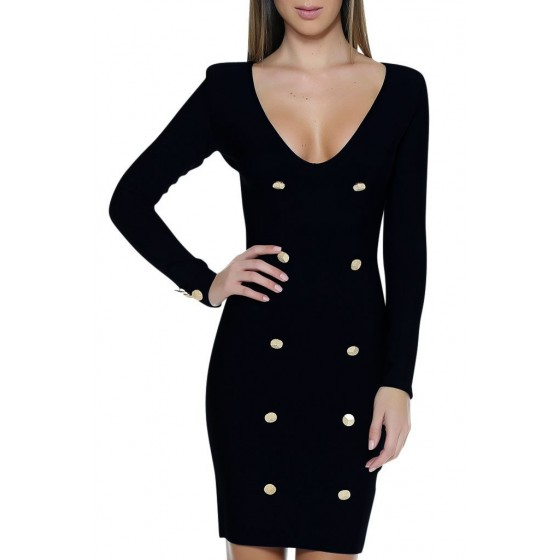 CRUISE BANDAGE DRESS - BLACK