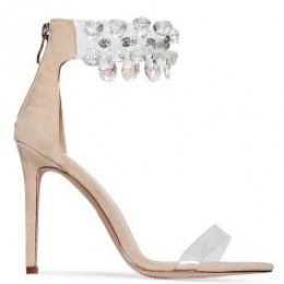 CRYSTAL NUDE HIGH HEELS