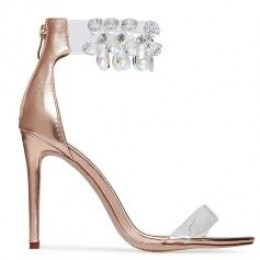 CRYSTAL ROSE GOLD HIGH HEELS