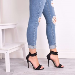 EVIE BLACK DENIM HIGH HEELS