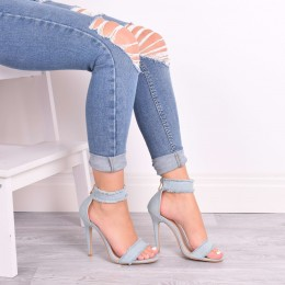 EVIE LIGHT DENIM HIGH HEELS