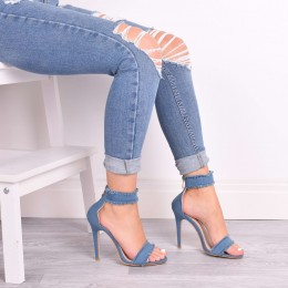 EVIE MID DENIM HIGH HEELS
