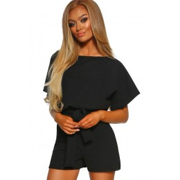 BLACK OVER THE TOP PLAYSUIT